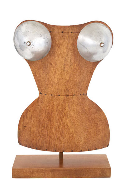 Attributed to René Herbst & Siegel, 'Aluminum and Bentwood Mannequin Bust of a Woman on a Stand', Circa 1930
