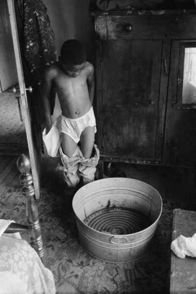 Constantine Manos, 'Untitled, Island Boy, Daufuskie Island, South Carolina (boy bathing)', 1952