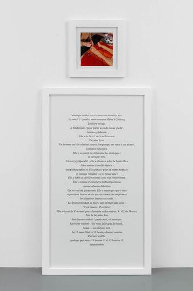 Sophie Calle, 'Faire Part', 2012