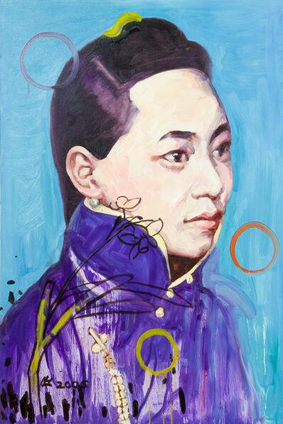Hung Liu 刘虹, 'Narcissus III (Blue)', 2006