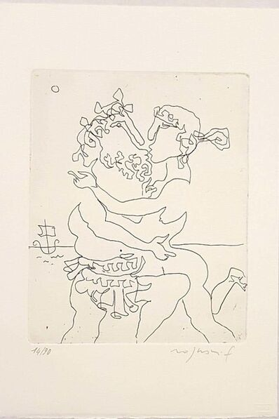 Franco Rognoni, 'Ulysses and Calipso', 1967
