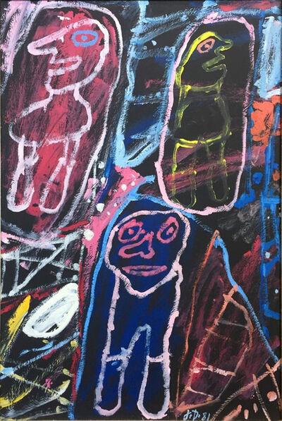 Jean Dubuffet, 'Site avec 3 personnages', 1981