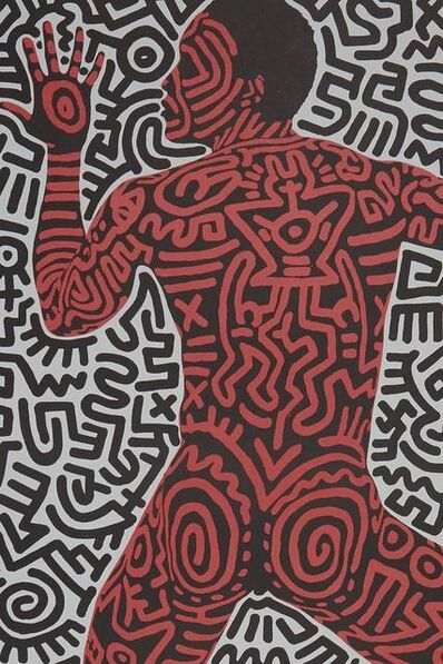 """Keith Haring, '""""Into 84"""" Shafrazi poster', 1984"""