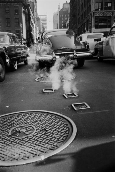 Werner Bischof, 'Steam escapes, New York, USA', 1953