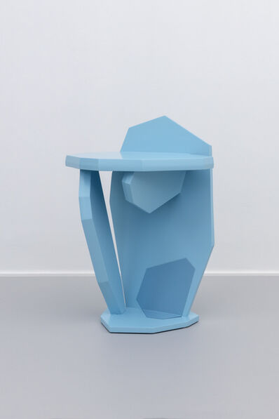 Jacob Mathias Egeberg, 'Blue stool/side table', 2019