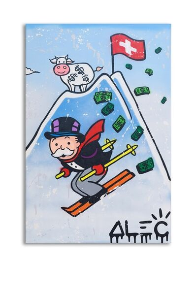 Alec Monopoly, 'Monopoly Skiing In Gstaad', 2019