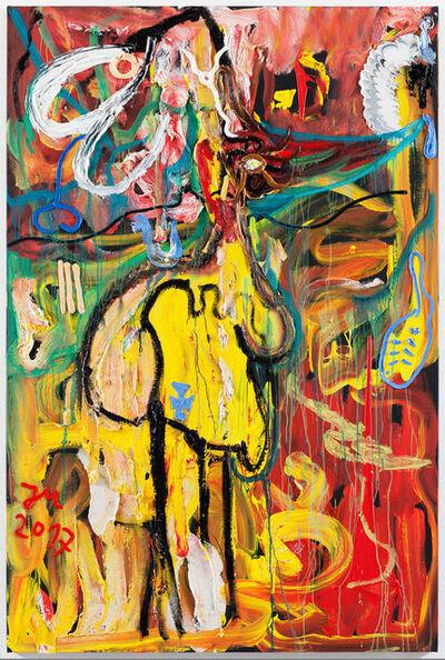 """Jonathan Meese, '""""DAS BLUTSÜSSE IM WELTENALL """"MUND""""""""', 2017"""