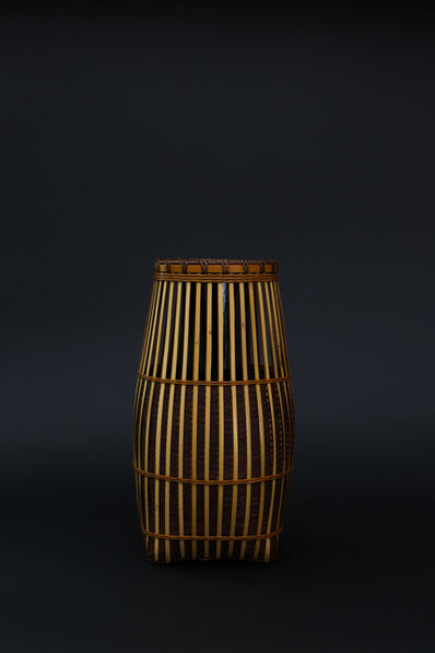 Matsumoto Hafū, 'Kushime ( the teeth of a comb ) pattern bamboo flower basket', 2017