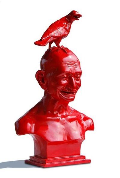 Debanjan Roy, 'India Shining 4 (Gandhi Bust with Bird)', 2007