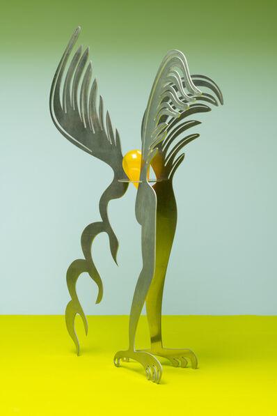 Esben Weile Kjær, 'angel, aluminum, glas', 2019