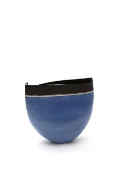 Mitsukuni Misaki, 'Saiyuudeiki (Colored stoneware vessel)', 2017