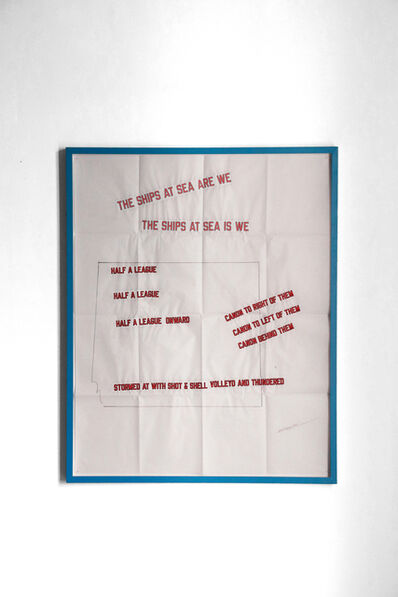 Lawrence Weiner, 'STORMED AT WITH SHOT & SHELL', 2019