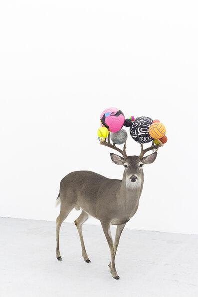 Gabriel Rico, 'Can you smell maths? (Pink deer)', 2020