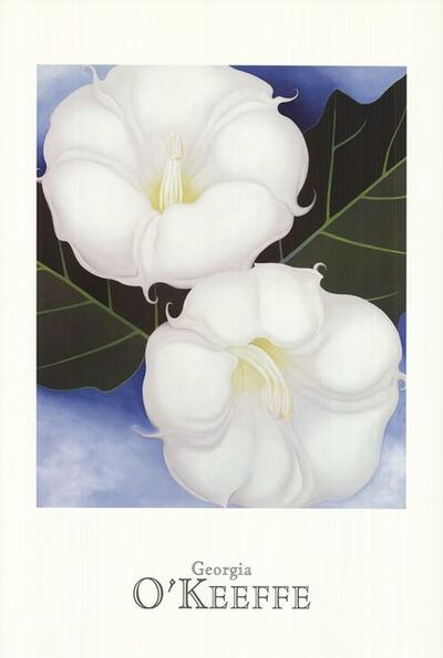 Georgia O'Keeffe, 'Two Jimson Weeds with Green Leaves and Blue Sky', 1995