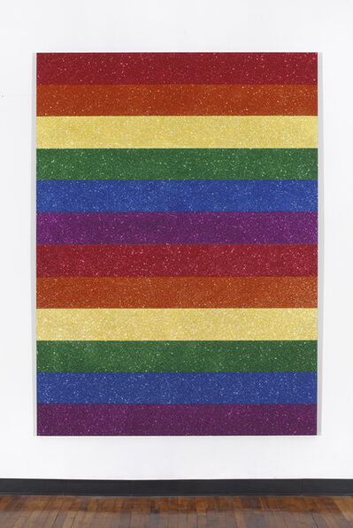 Jonathan Horowitz, 'Double Rainbow Flag for Jasper in the Style of the Artist's Boyfriend', 2013