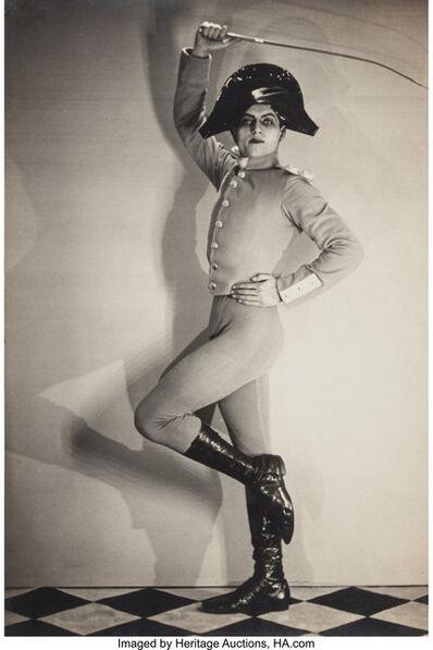 Man Ray, 'Serge Lifar as Sergeant in Barabau', 1925