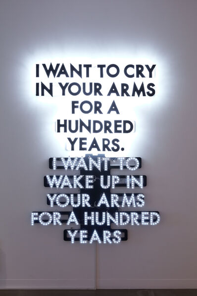 Robert Montgomery, 'A HUNDRED YEARS ', 2014