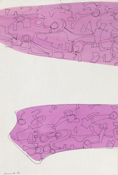 Carla Accardi, 'Disegno a china su rosa', 1962