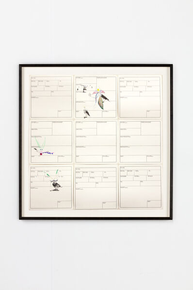 Petrit Halilaj, 'Several birds fly away when they understand it (Inventory Cards IV)', 2013