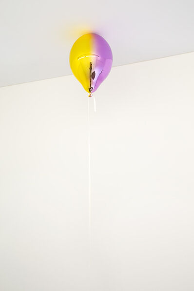 Jeppe Hein, 'Medium Yellow and Medium Purple Mirror Balloon (vertical)', 2019
