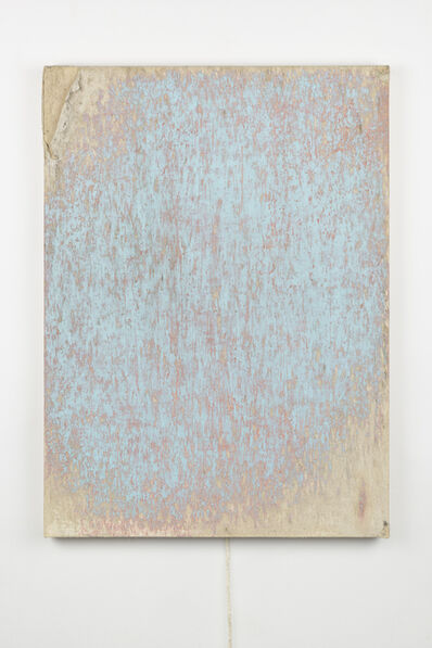Margie Livingston, 'Dragged Blue Painting with Orange Underpainting', 2018