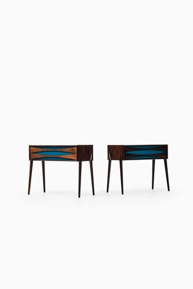 Rimbert Sandholt for Glas & Trä Hovmantorp, 'Pair of night tables', vers 1960