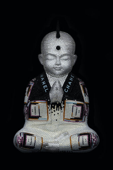 "Metis Atash, 'PUNKBUDDHA medium ""CHANEL No. 5 in white"" feat. Warhol', 2020"