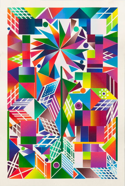 Polly Apfelbaum, 'Atomic Mystic Portrait 14', 2016