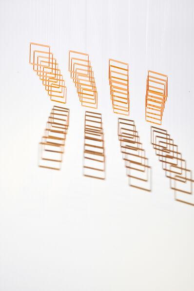 Elias Crespin, '32 Caras (Orange)', 2014