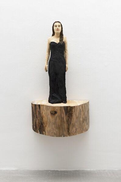 Stephan Balkenhol, 'Frau mit langem schwarzem Abendkleid', 2018