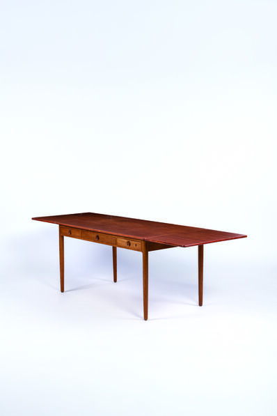 Hans J. Wegner for Andreas Tuck ed, 'Teak and oak desk', vers 1950