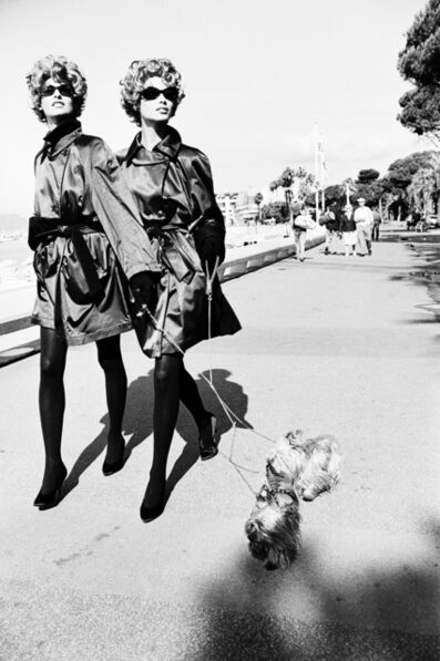 Ellen von Unwerth, 'Dog Walkers, Cannes', 1990