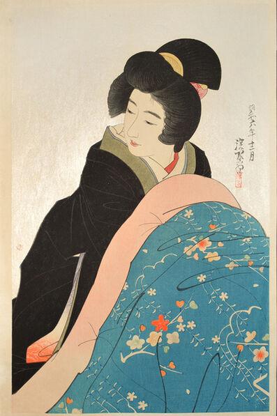 Itō Shinsui, 'Kotatsu (Charcoal Foot Warmer)', 1931
