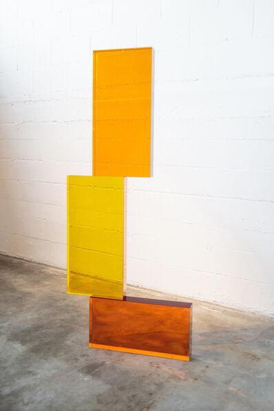 John Kiley, 'GOLDEN AND AMBER STACK', 2019