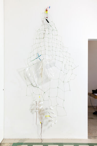 Jessica Stockholder, '# 599 White Catcher', 2014
