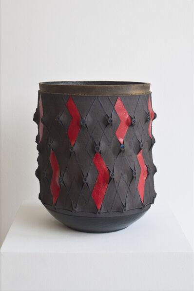 Andile Dyalvane, 'Scarified cylinder vase', 2016