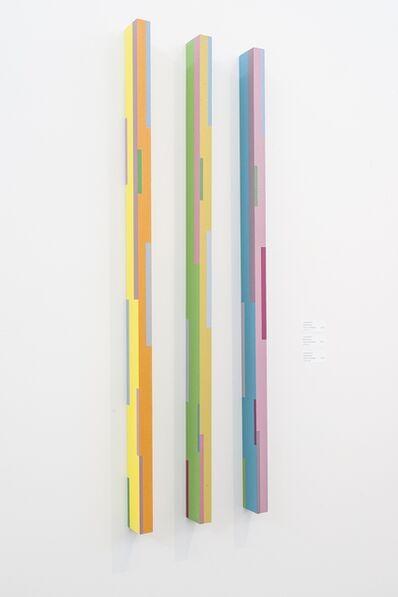 Burton Kramer, 'Color Stick Triptych (2A, 3A, 4A)', 2012