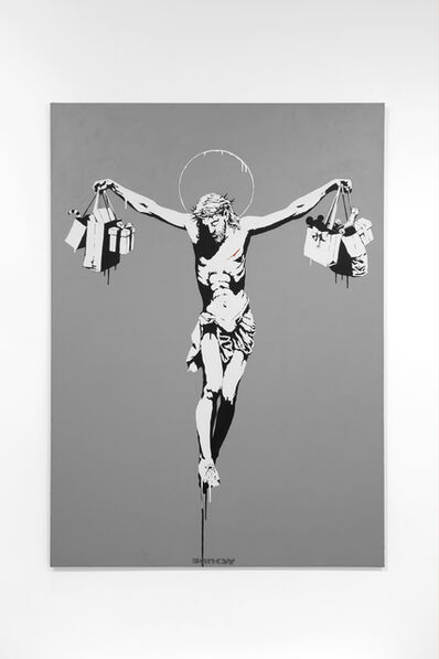 Banksy, 'Christ with Shopping Bags', 2004