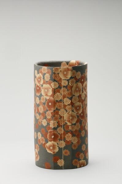 Ito Sekisui V, 'Mumyoi Neriage Cylindrical Jar with Flower Patterns', 2016