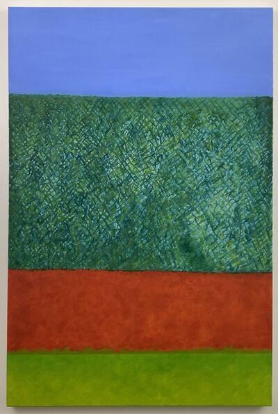 Jan Book, 'My Backyard #2 (Red Wall)', 2020