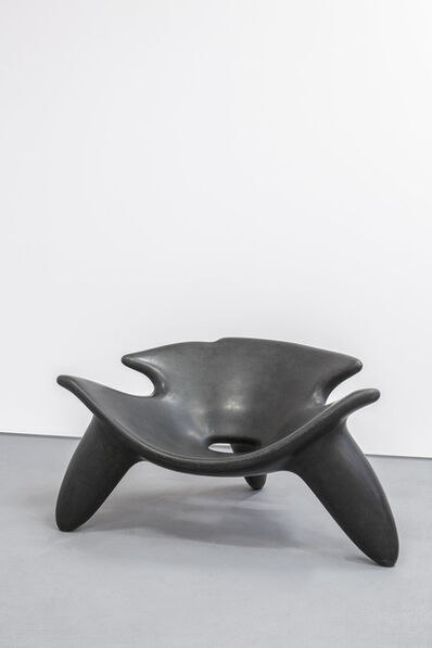 Wendell Castle, 'Concrete Chair Black', 2010