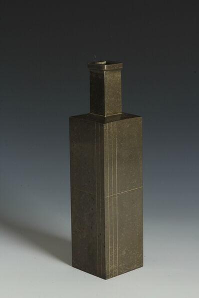 Shugoro Hasuda, 'Rectangular Vase (T-3850)', Showa era (1912, 1926), 1960s, 1980s