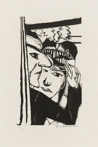 Max Beckmann, 'Tanzendes Paar', 1922