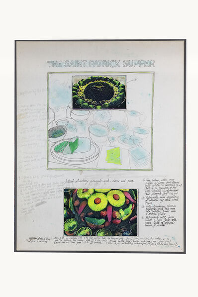 Antoni Miralda, 'The Saint Patrick Supper', Collage-pencil and photocopies