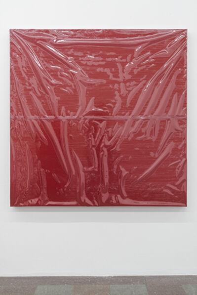 Angela de la Cruz, 'Painting with Cover II (Red, Medium)', 2016