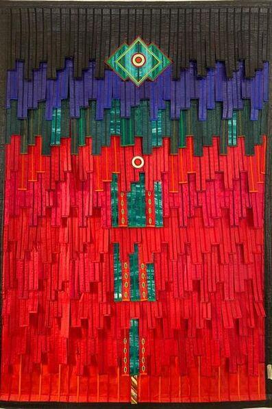 Abdoulaye Konaté, 'Composition, rouge et vert Touareg', 2020