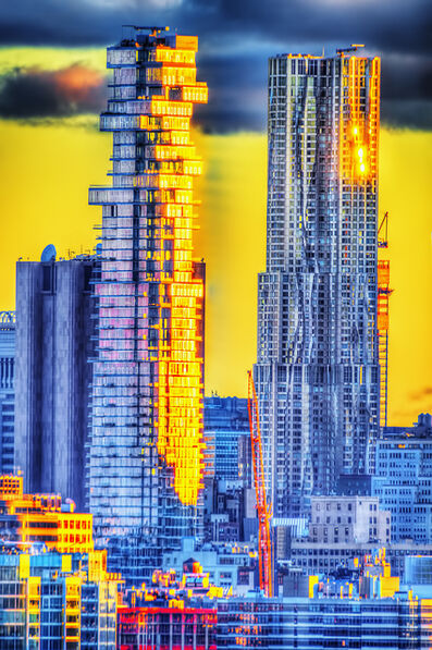 Mitchell Funk, 'Lower Manhattan Skyscrapers at Sunset', 2019