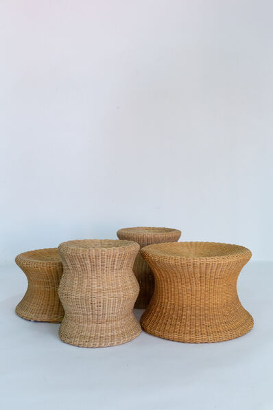 Eero Aarnio, 'Set of five cane Juttu stools', vers 1960