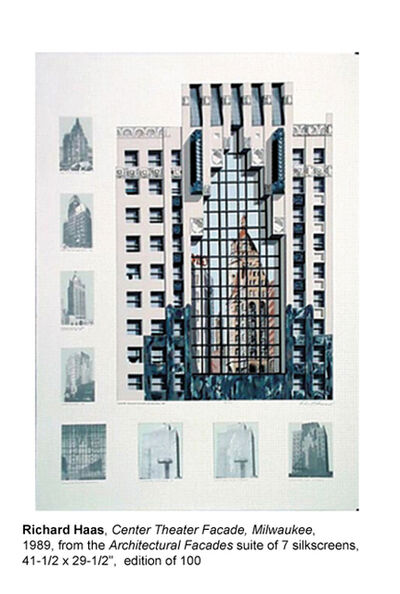 Richard Haas, 'Centre theatre facade', 1989