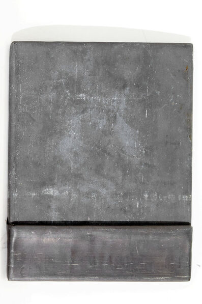Fabio Mauri, 'Schermo piombo con tasca (Lead screen with pocket)', 1992